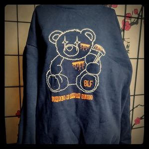 Korean unisex sweater Lovely Horror Teddy🧸 Bluff